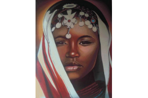 PANNEAU DÉCO AFRICAINE 140 x 215 CM