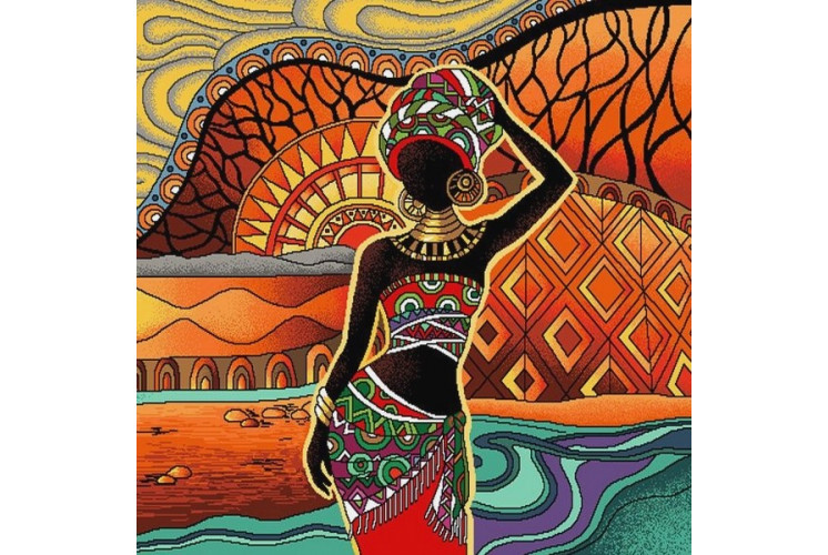 CARRÉ DÉCO VINTAGE MAMA AFRICA MULTI
