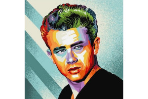 CARRÉ DÉCO VINTAGE JAMES DEAN