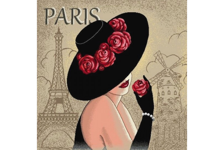 CARRÉ DÉCO VINTAGE DAME DE PARIS