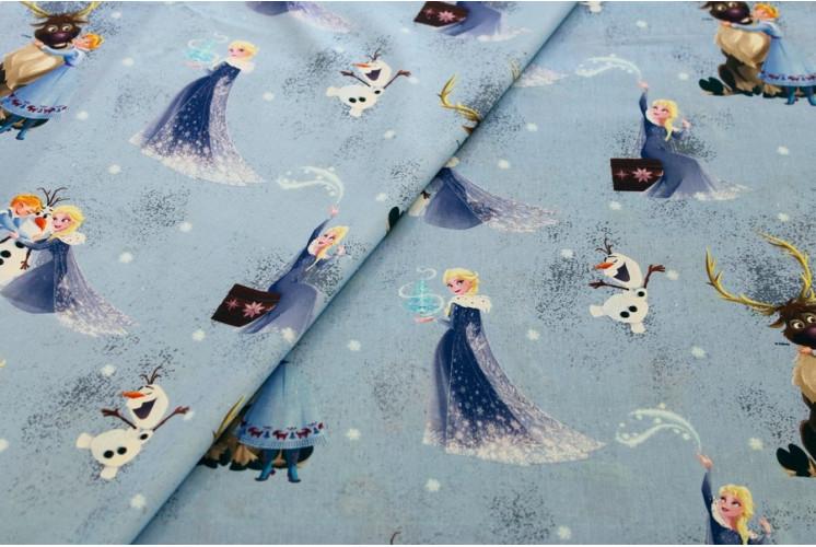 Tissu Dessin Animé Disney Reine Des Neiges Flocons