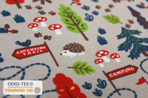 TISSU JERSEY CAMPING ANIMAUX