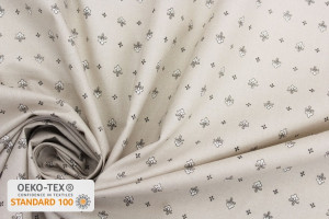 TISSU PROVENCAL VENCE ALL OVER GRIS / BEIGE