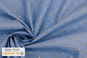 TISSU PROVENCAL VENCE ALL OVER BLANC / BLEU