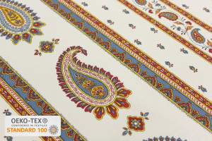 TISSU PROVENCAL MONSEGUR RAYURES ORANGE