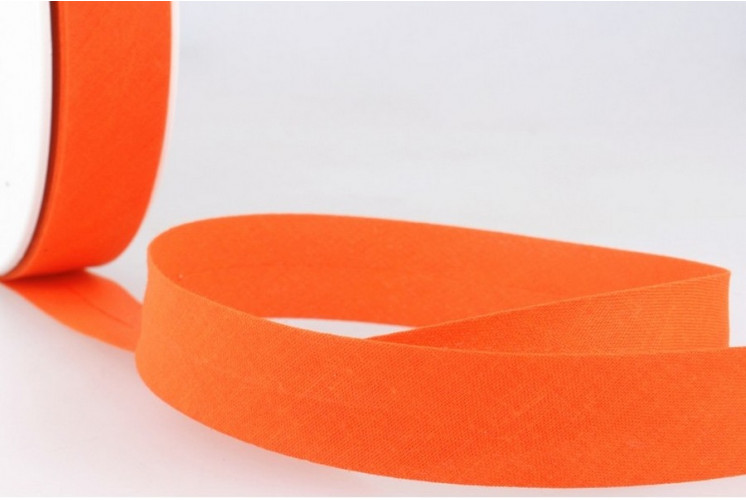 BIAIS REPLIÉ TOUT TEXTILE 20 MM ORANGE