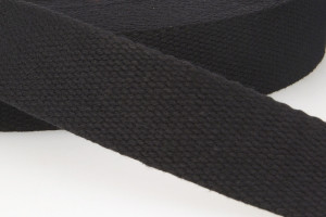 SANGLE COTON 30 MM NOIR