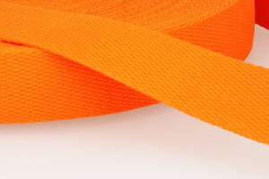 SANGLE COTON 30 MM ORANGE