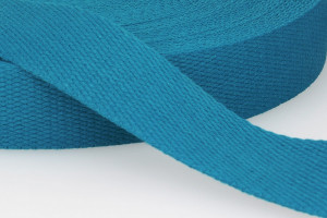 SANGLE COTON 30 MM BLEU CANARD