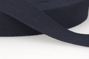 SANGLE COTON 30 MM BLEU MARINE