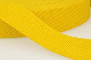 SANGLE COTON 30 MM JAUNE ORANGE