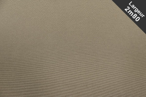 TISSU DOUBLE NATTE GRANDE LARGEUR TAUPE