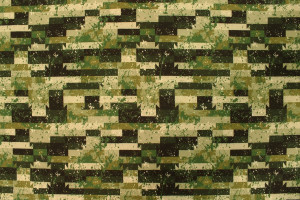 TISSU IMPERMÉABLE SOFTSHELL RECTANGLES CAMOUFLAGE