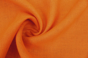 TOILE DE JUTE UNIE ORANGE