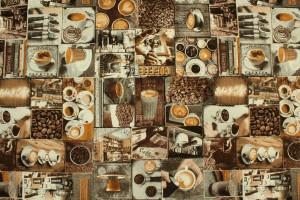 TISSU PATCHWORK CAFÉ CAPPUCCINO