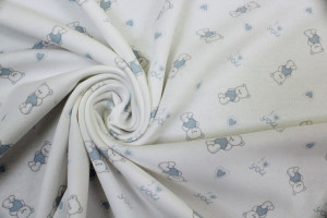 TISSU JERSEY PETITS OURSONS BABY BLEU