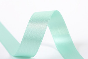 RUBAN SATIN DOUBLE FACE 25 MM TURQUOISE