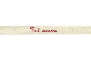 """RUBAN IMPRIMÉ EXPRESSION 10 MM """"FAIT MAISON"""""""