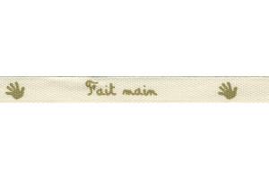 "RUBAN IMPRIMÉ EXPRESSION 10 MM ""FAIT MAIN"""