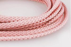 CORDON TOUT TEXTILE 5 MM ROSE CLAIR