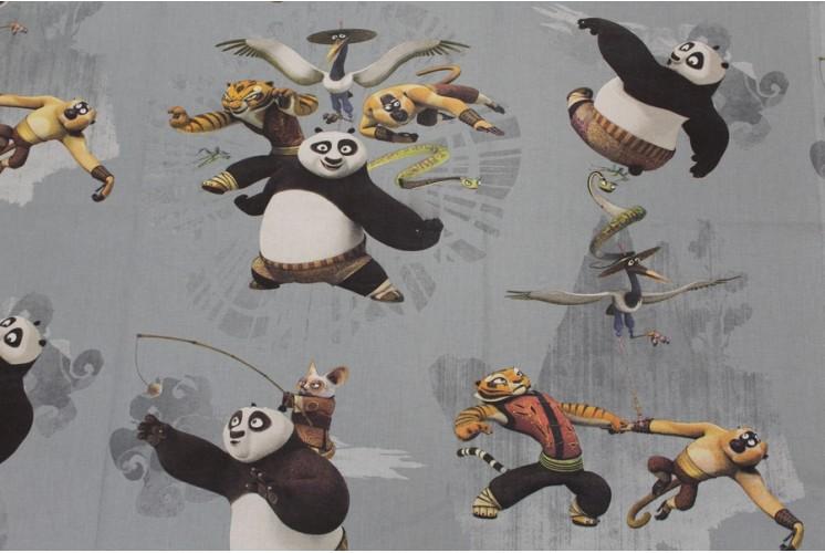 Tissu dessin anim kung fu panda tissus plus - Dessin kung fu panda ...