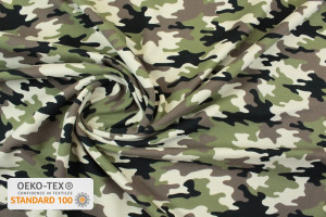 TISSU JERSEY CAMOUFLAGE FRENCH TERRY