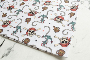 COUPON PIRATERIE BLANC 50 X 70 CM