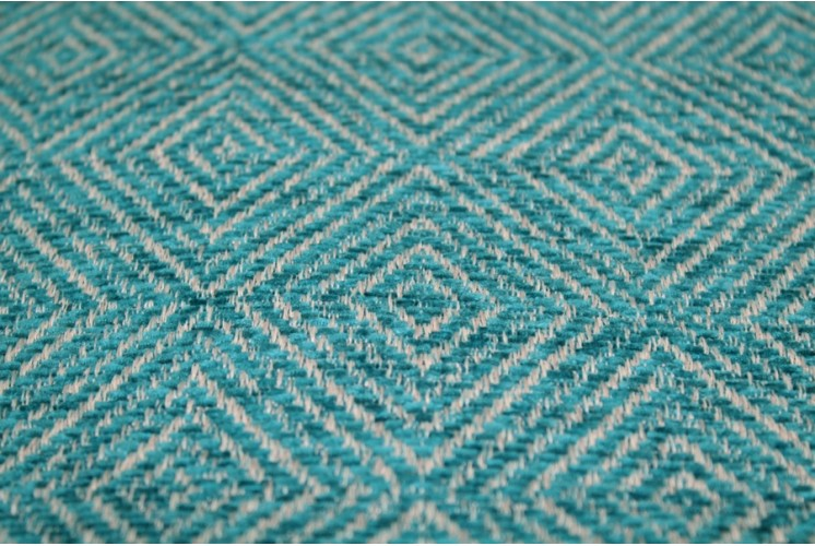 tissu d 39 ameublement carr s losang s bleu tissus plus. Black Bedroom Furniture Sets. Home Design Ideas
