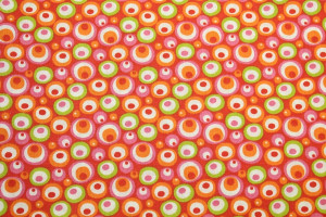 COUPON IMPRIMÉ CIRCLE SEVENTIES ORANGE