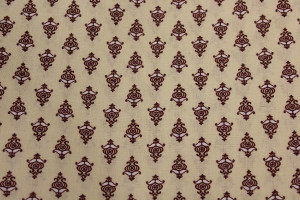 COUPON PROVENCAL MOTIF ROUGE / BEIGE