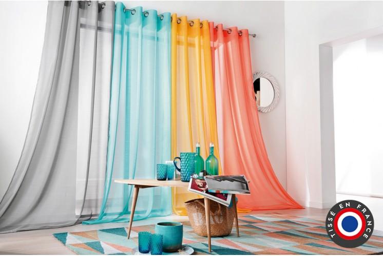 rideau oeillets tamine givr sable 140 x 280 cm tissus plus. Black Bedroom Furniture Sets. Home Design Ideas