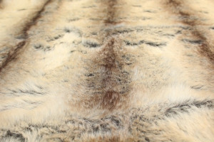 FOURRURE HUSKY POIL LONG BEIGE / MARRON