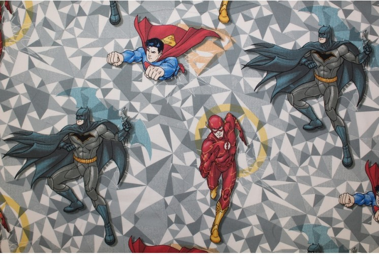Tissu dessin anim superman batman flash tissus plus - Superman et batman dessin anime ...