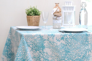 TOILE ENDUITE CORAIL TURQUOISE