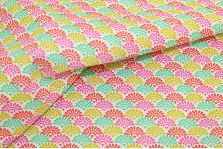 TISSU COTON SUNRISE MULTICOLORE