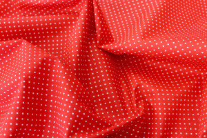 TISSU COTON POINTS ROUGES