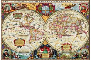 PANNEAU DÉCO MAPPEMONDE 272 x 188 CM