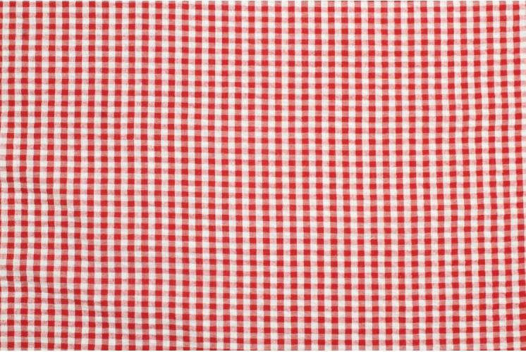Tissu Petits Carreaux Vichy Rouge Tissus Plus