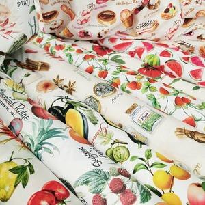 Nos tissus pleins de gourmandise 😘🍉🍰🍓 🍫🍦🍊🍋  #gourmand #nourriture #decocuisine #deco #decoculinaire #culinaire #tissus #tissusameublement #instadeco #instacouture #gateaux #patisserie #fruitsdesaison #mediterranee #fruite #friandises  #couturedeco #decodetable #tabledete #tissusaddict