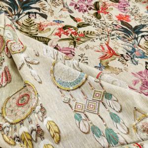 Le lin🌾... Matière parfaite pour créer une ambiance chaleureuse chez vous 🏠  Coussins, rideaux, petites déco ❤️