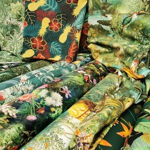 """🌴 TROPICAL ADDICT 🌴  Inconditionnels ananas, palmiers, oiseaux tropicaux, fleurs d'hibiscus, oiseaux de paradis, faune sauvage et paysages féeriques vous attendent en magasins et sur notre site internet pour """"pimper"""" votre déco !  🌴🦧🐆🐒🦒🐘🦥🐦🦜🌺  #tropicaladdicted #jungle #deco #passioncouture #coutureaddict #tissustropicaux #machineacoudre #summertime #tissus #couturefacile #decointerieur #coussins #rideaux #decotropicale #fleurstropicale #oiseauxtropicaux #jecoudsdoncjesuis #tissusaddict"""