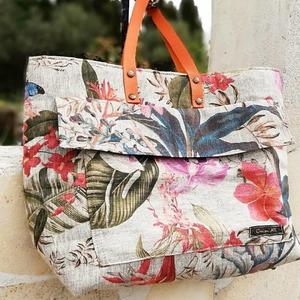 Superbes sacs en lins imprimé floral 😍 réalisés avec brio par @anitadiycreation 🤗🌹