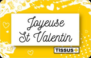 Carte cadeau Joyeuse Saint Valentin
