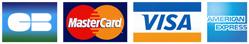 Carte Bleue, MasterCard, Visa, PayPal